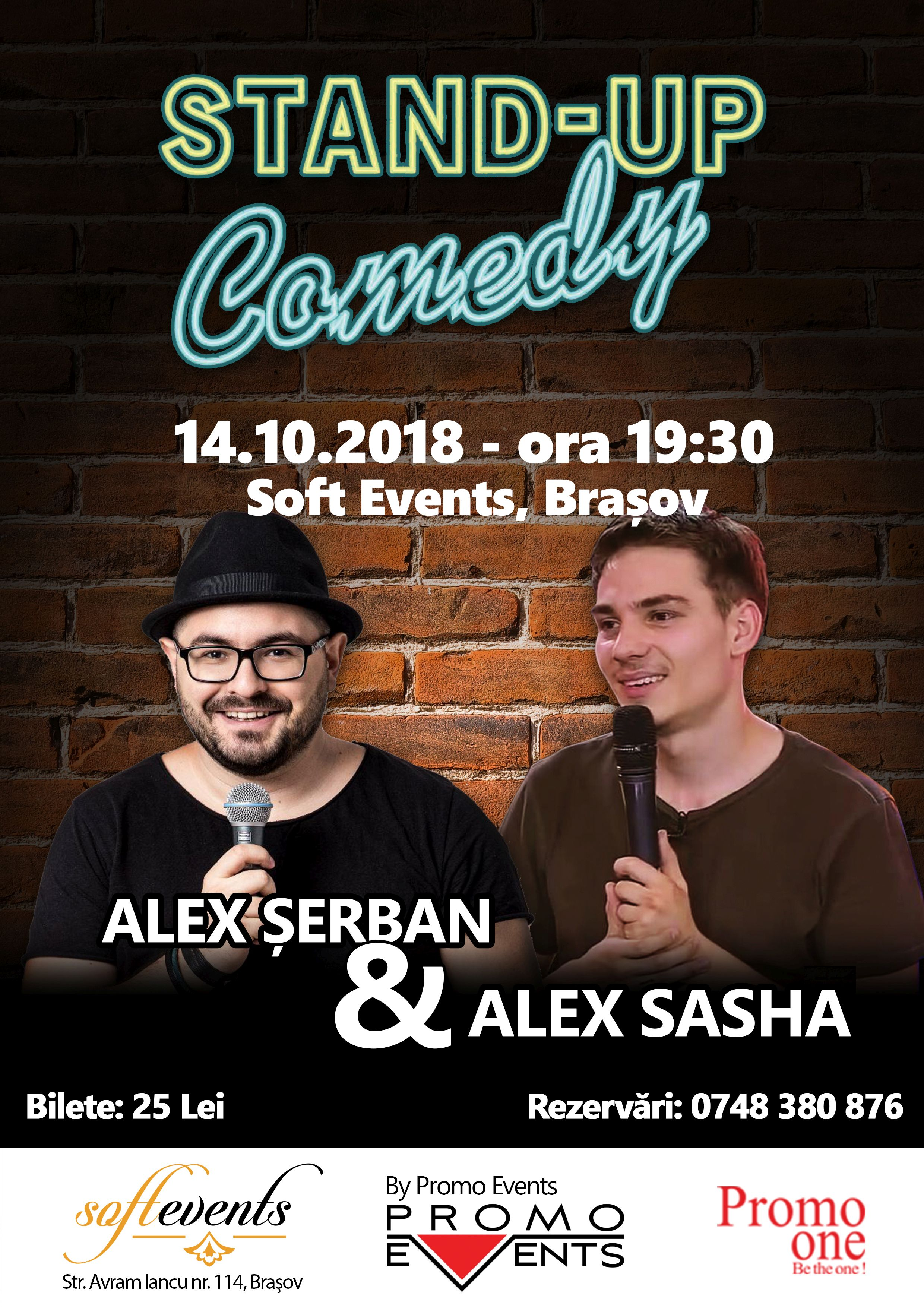 Stand-Up Comedy @ Soft Events, Brașov – 14 Octombrie 2018