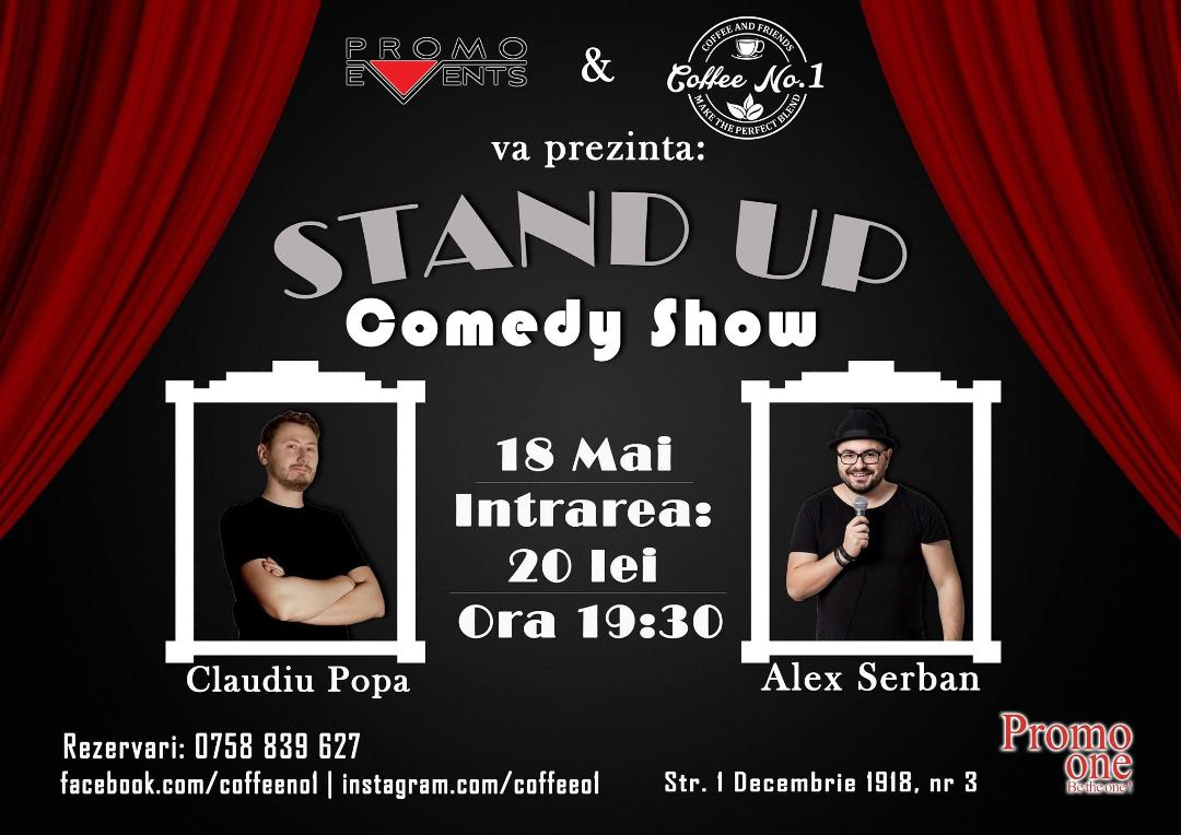 Stand Up Comedy @ Coffee No. 1, Covasna – 18 mai 2018