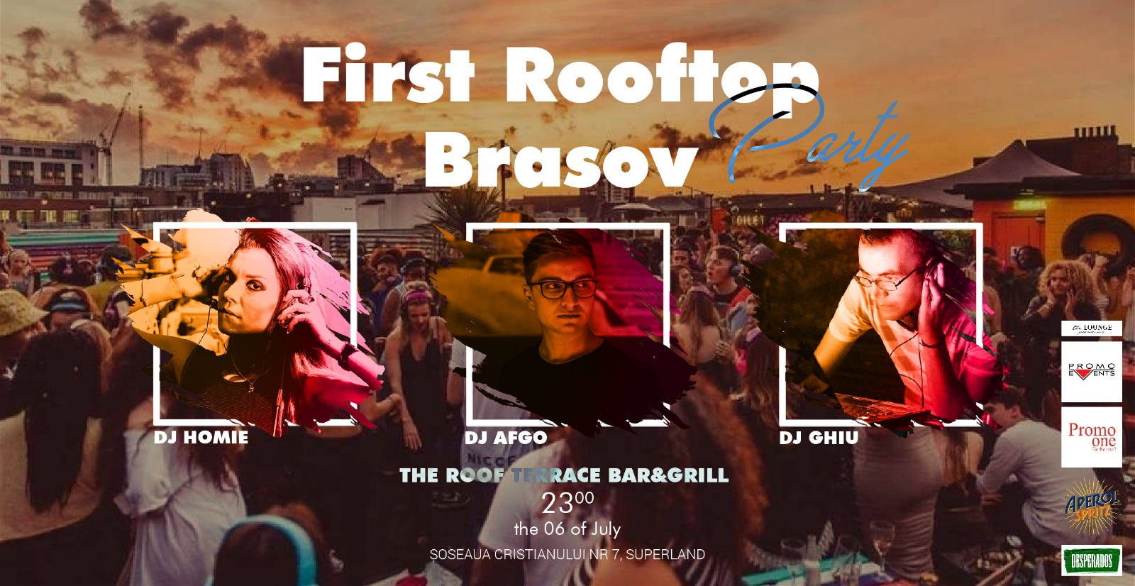 First Rooftop Party @ The Roof Terrace Bar&Grill, Brașov – 6 Iulie 2018
