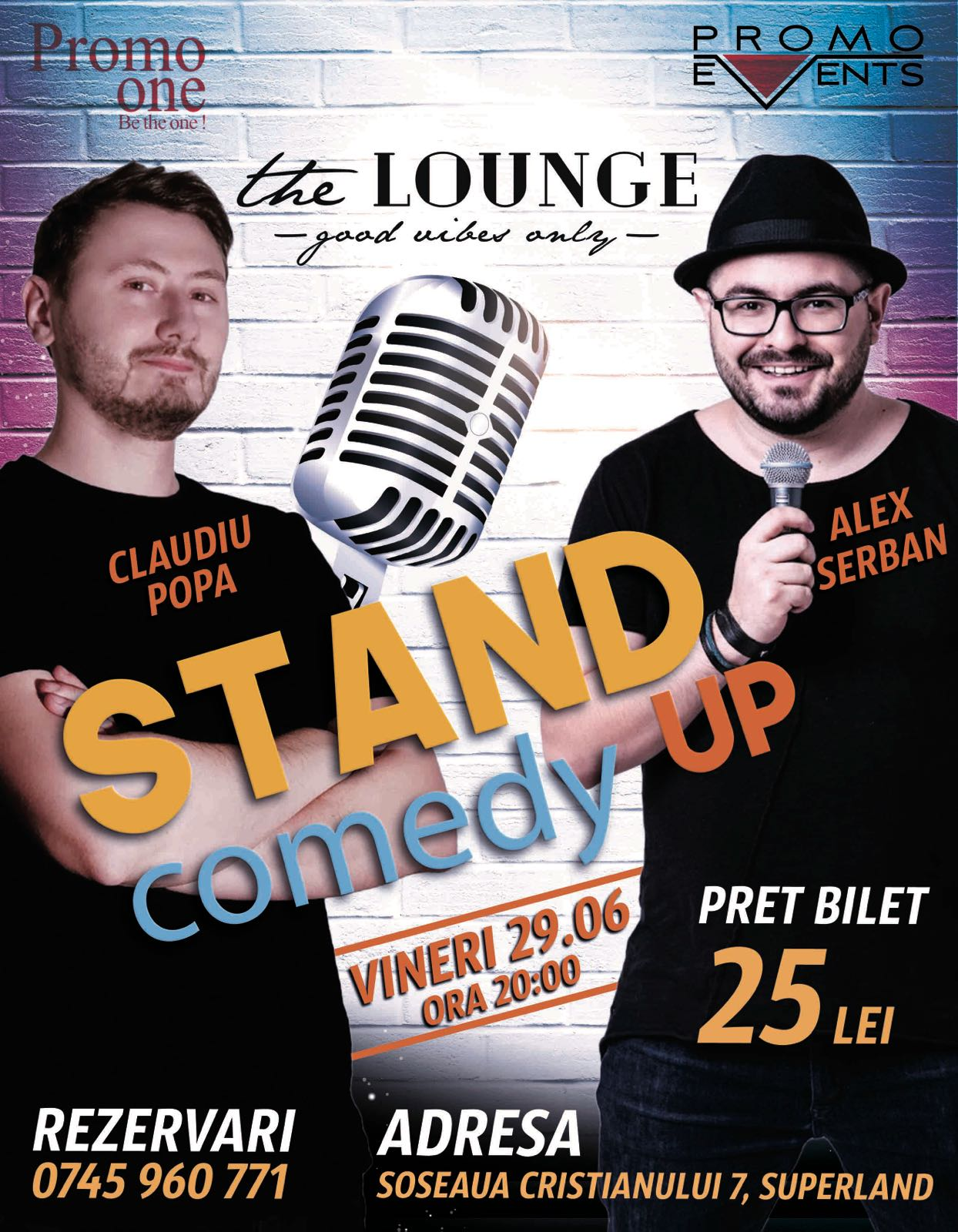 Stand Up Comedy @ The Lounge, Brașov – 29 iunie 2018